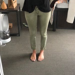 olive green Free People jeans! in GREAT condition